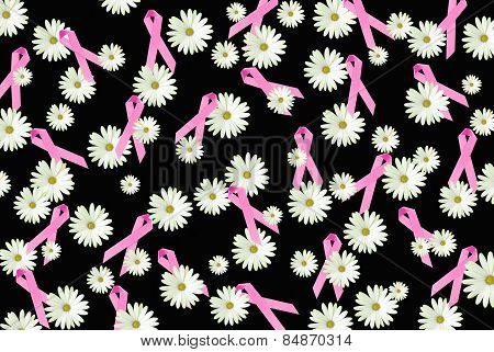 pink ribbons and daisies