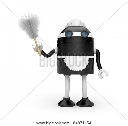 Housemaid with duster