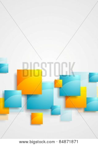 Shiny glossy squares abstract tech background. Vector illustration