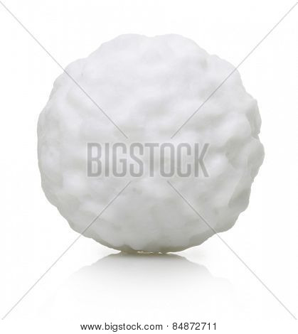 Snow ball isolated on white background.