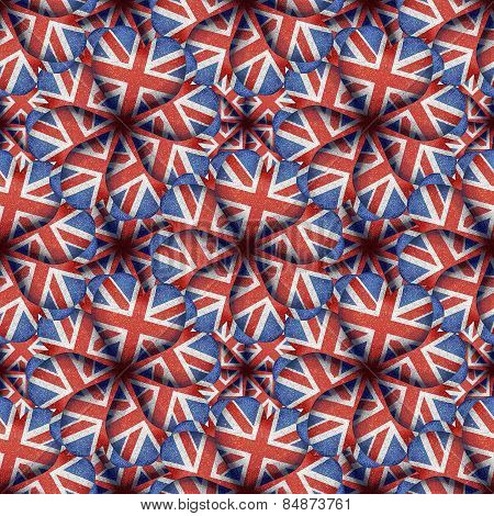 England Flag Heart Shaped Pattern