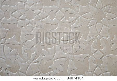 Old paper with embossed pattern