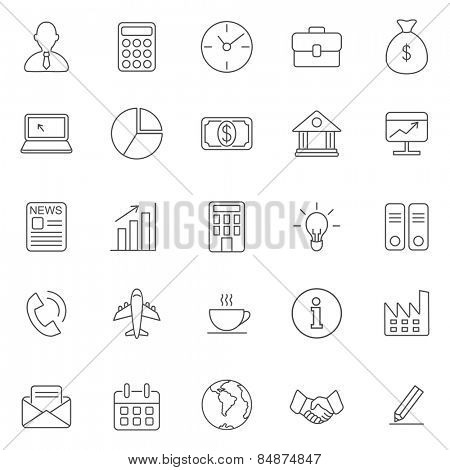 Business line icons set.Vector