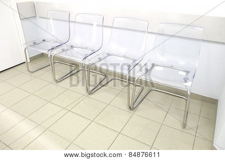Transparent chairs - waiting room