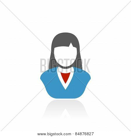 Accent Series Businesswoman Icon