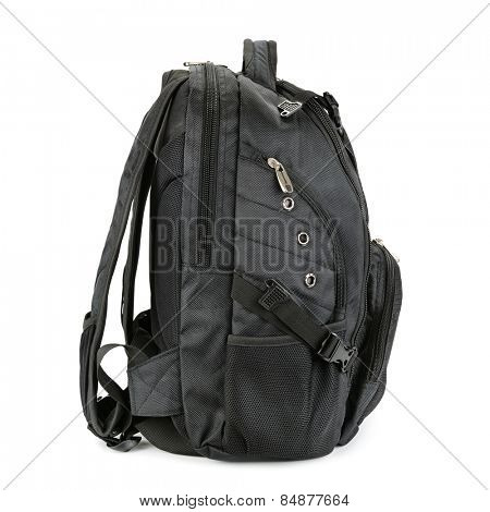black backpack isolated on a white background