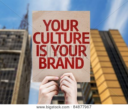 Your Culture is Your Brand card with urban background