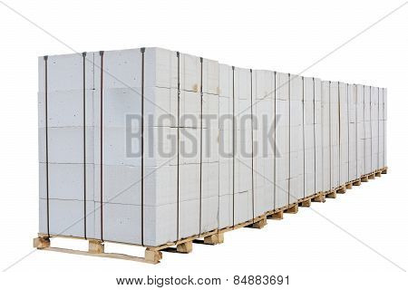 Concrete Blocks On The Pallet.