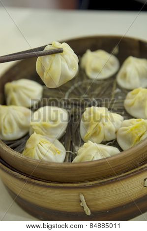 Traditional  Chinese Soup-Filled Pork Dumpling