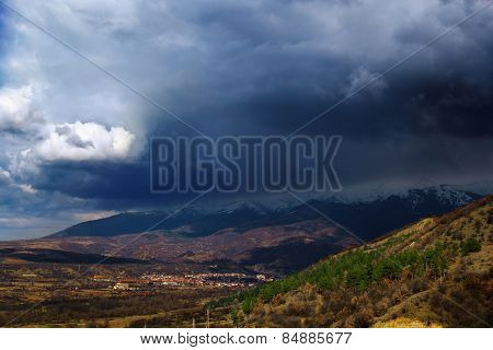 Bulgarian Mountain In Storm
