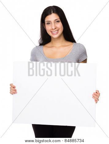 Iranian woman show with white board