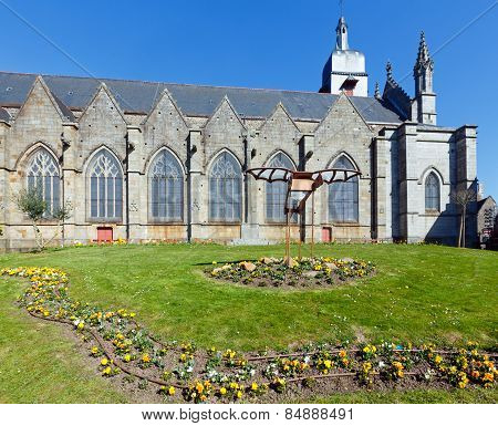 Saint-leonard Church, Fougeres, France.