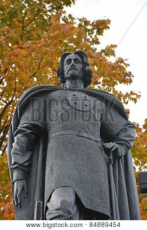 Saint-petersburg, Russia - 04 October, 2014. Monument To The Alexander Nevsky, The Famous Russian Gr