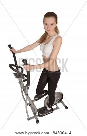 Woman On Home Trainer