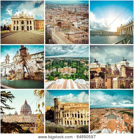 Set of photos from Rome. Italy