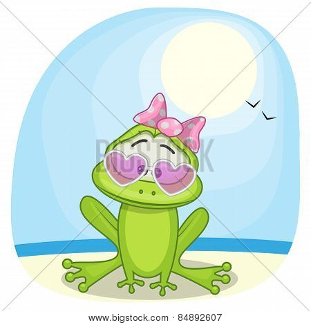 Frog On The Sea