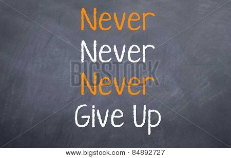 Never, Never, Never - Give up