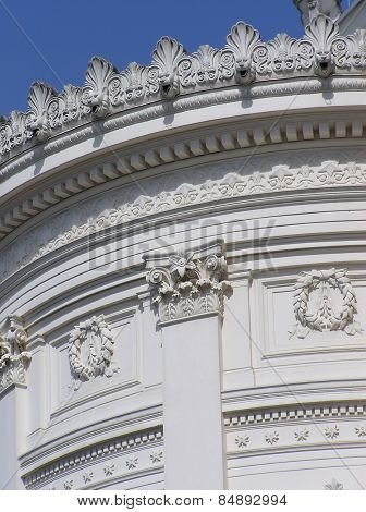 WHITE ORNAMENTAL BUILDING
