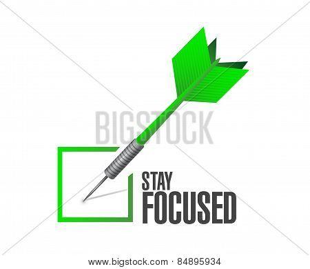 Stay Focused Check Dart Illustration