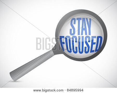 Stay Focused Magnify Illustration Design