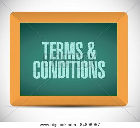 Terms And Conditions Board Sign Illustration