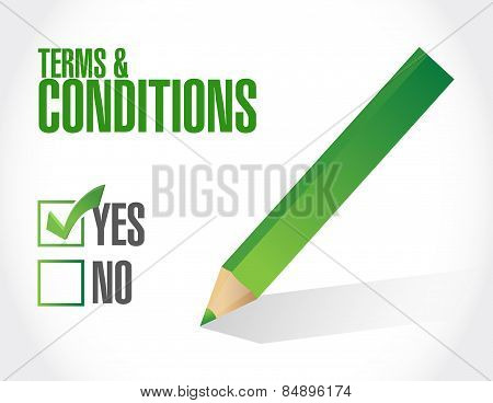 Terms And Conditions Check Mark