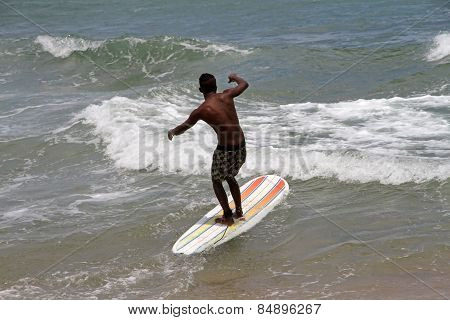 Surfing With A Sup Board