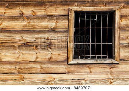 The metal gratings window.