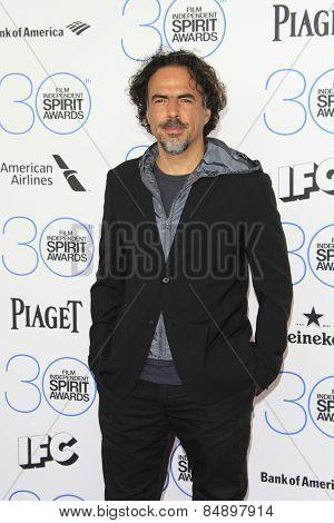 SANTA MONICA - FEB 21: Alejandro Gonzalez Inarritu at the 2015 Film Independent Spirit Awards on February 21, 2015 in Santa Monica, California