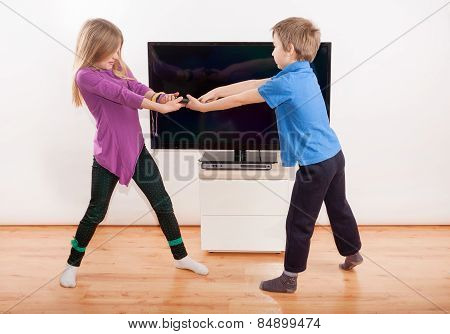 Fighting For The Tv