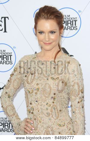 SANTA MONICA - FEB 21: Darby Stanchfield at the 2015 Film Independent Spirit Awards on February 21, 2015 in Santa Monica, California