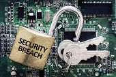stock photo of cybercrime  - Internet computer security and network protection concept - JPG