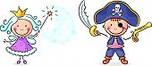 picture of pirate girl  - Cartoon pirate and fairy costumes - JPG