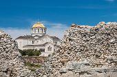 picture of sevastopol  - view of Vladimir Cathedral in Tauric Chersonesos Sevastopol city Crimea - JPG