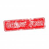 pic of you are awesome  - great job red grunge rubber stamp vector illustration - JPG