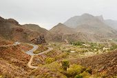 picture of canary  - Road in Parque Natural de Pilancones in Gran Canaria - JPG