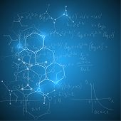 stock photo of molecules  - Abstract Background with mathematical formulas - JPG