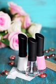 picture of french manicure  - French manicure set with white tip polish - JPG