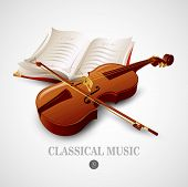 pic of musical instrument string  - Violin - JPG