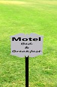 stock photo of motel  - Signboard with text Motel - JPG