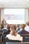 stock photo of entrepreneurship  - Speaker at Business Conference and Presentation - JPG