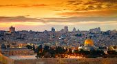picture of eastern culture  - Panorama of Jerusalem old city - JPG