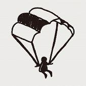 foto of parachute  - Doodle Parachute - JPG