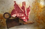 image of t-bone steak  - beef steak t - JPG