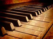 Постер, плакат: Сепия клавиши пианино