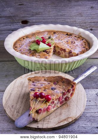 French Cherry Clafoutis Cake
