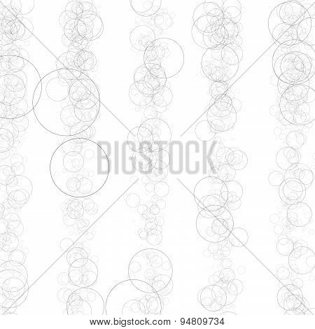 Artistic Abstract Vector. Random Circles In Vertical Lines.