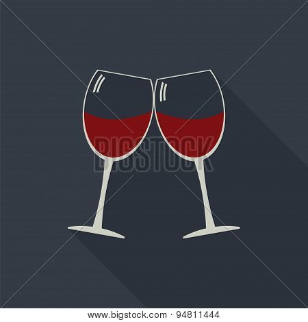 Wine Glasses Clink Glasses Icon