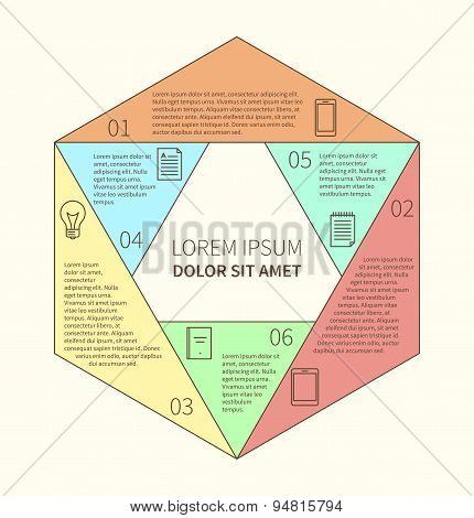 Polygonal infographic diagram