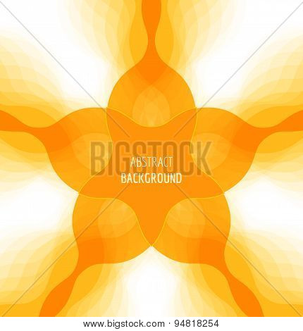 Abstract orange background with banner